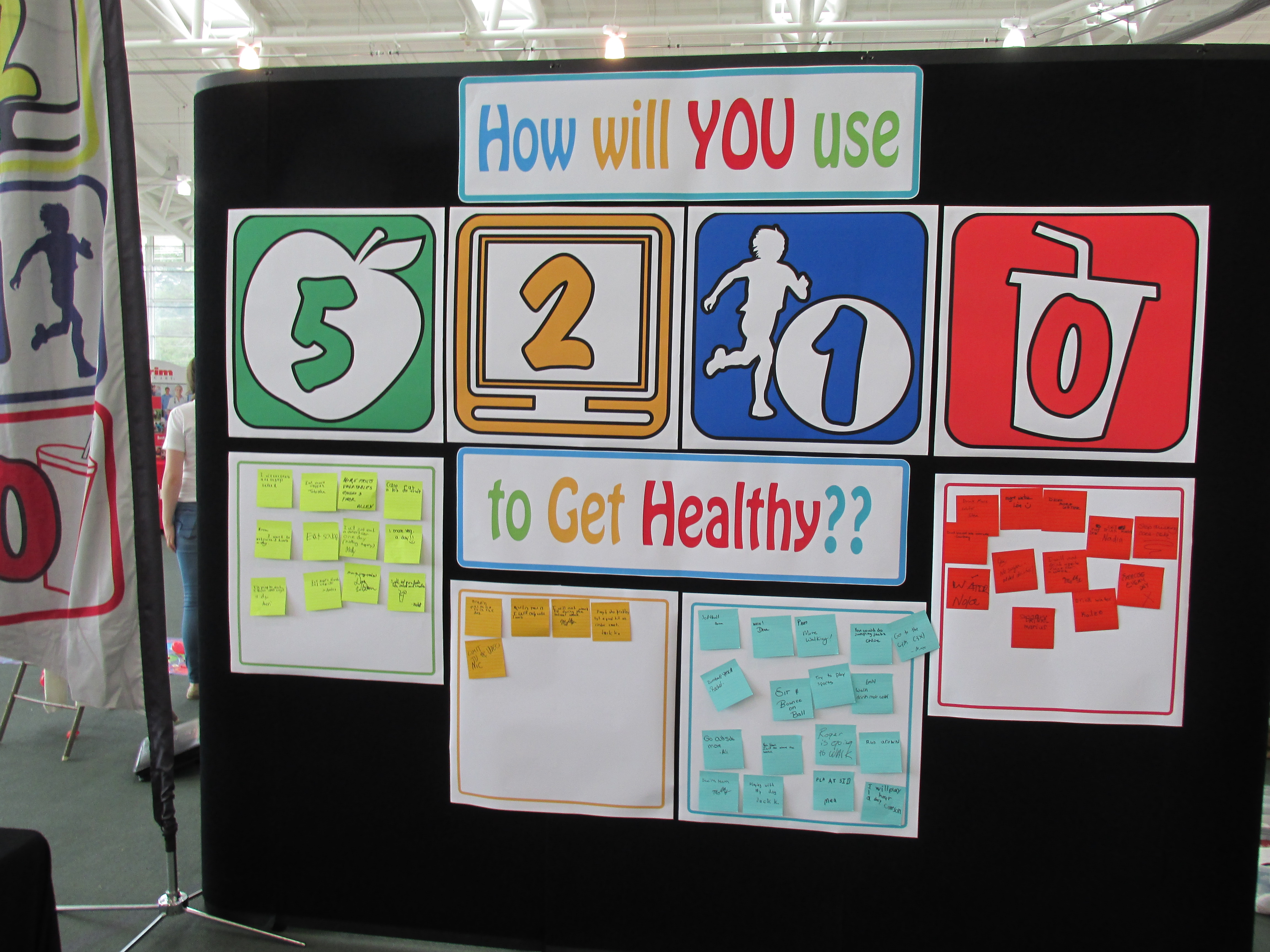 47 visitors at Earth /day pledged to get healthy by using 5-2-1-0 strategies everyday!